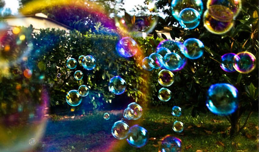 фотосессия с пузырями