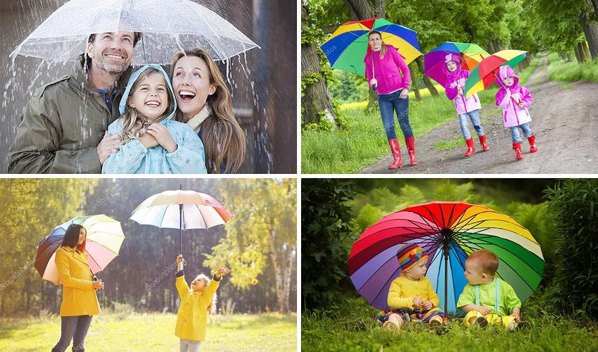 фотосессия с зонтиком